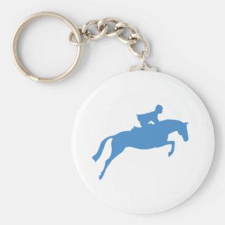 Jumper Horse Silhouette (blue) Keychains