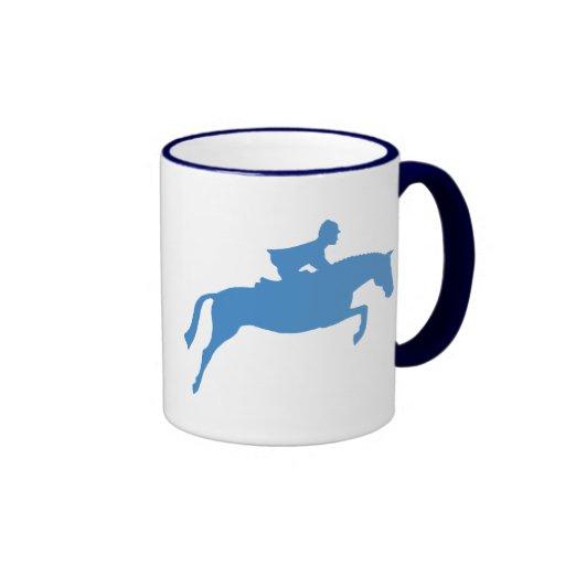 Jumper Horse Silhouette (blue) Mug