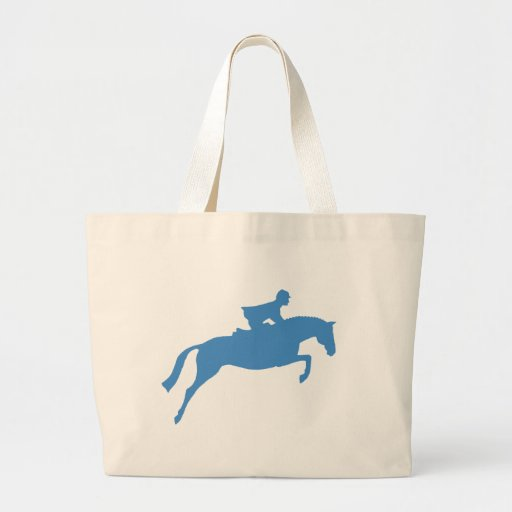 Jumper Horse Silhouette (blue) Tote Bags