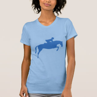 Jumper Horse Silhouette blue T Shirt