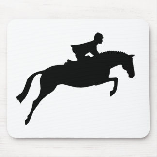 Jumper Horse Silhouette Mouse Pads