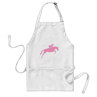 Jumper Horse Silhouette (pink) Adult Apron