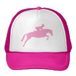 Jumper Horse Silhouette (pink) Mesh Hats