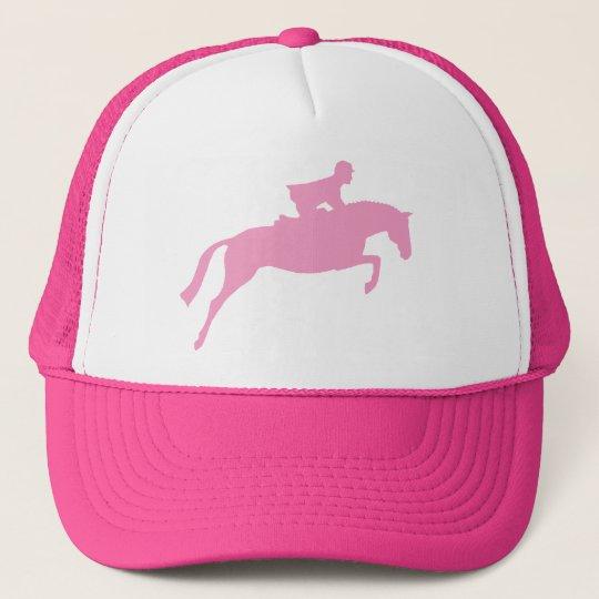 Jumper Horse Silhouette (pink) Trucker Hat