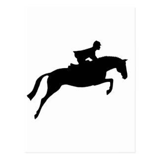Jumper Horse Silhouette Postcard