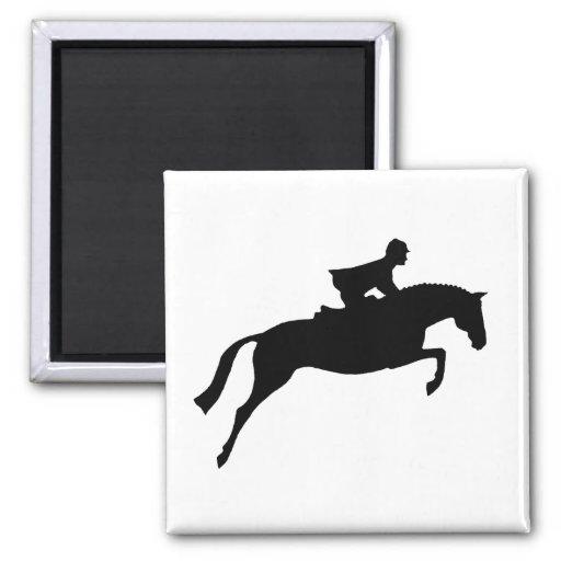 Jumper Horse Silhouette Refrigerator Magnet
