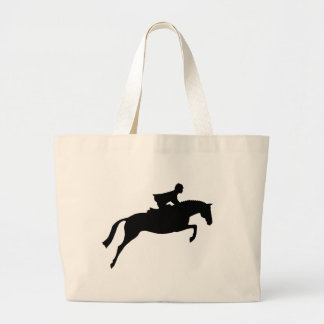 Jumper Horse Silhouette Tote Bags