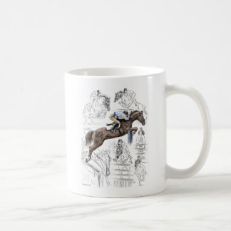Jumper Horses Fences Montage Coffee Mug