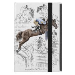 Jumper Horses Fences Montage iPad Mini Cover