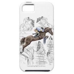 Jumper Horses Fences Montage iPhone SE/5/5s Case