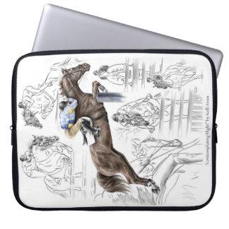 Jumper Horses Fences Montage Laptop Sleeve