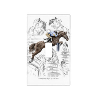 Jumper Horses Fences Montage Light Switch Plate