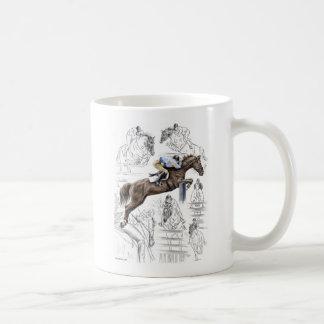 Jumper Horses Fences Montage Mugs