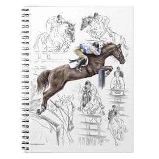 Jumper Horses Fences Montage Notebook