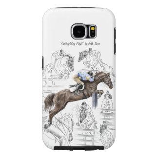 Jumper Horses Fences Montage Samsung Galaxy S6 Case