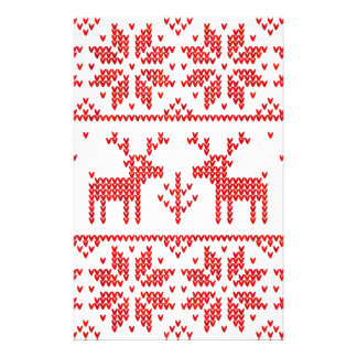 Jumper with deers stationery paper