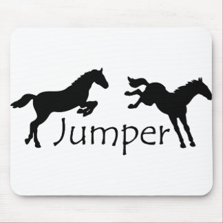 Jumper With Two Jumping Horses Mouse Pad