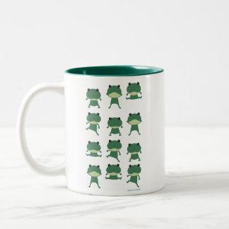 jumpin' frog Two-Tone coffee mug