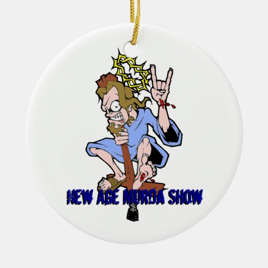 Jumpin' Jesus NAMS Ceramic Ornament