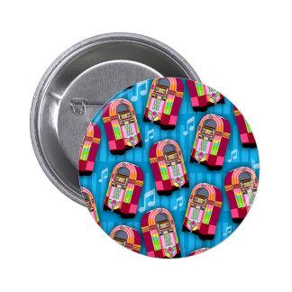 Jumpin Neon Jukebox Pattern Pinback Buttons