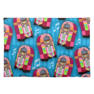 Jumpin Neon Jukebox Pattern Cloth Placemat