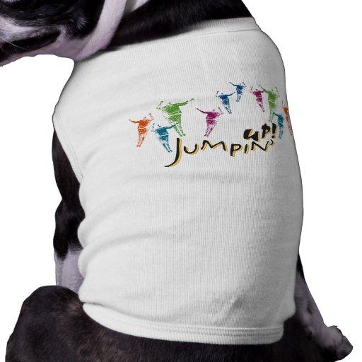 ¡Jumpin para arriba! Ropa del mascota Playera Sin Mangas Para Perro