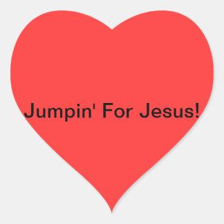 Jumpin para Jesús Calcomanías De Corazones