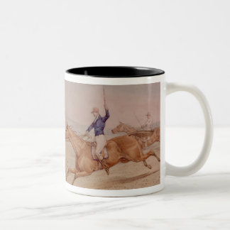Jumping a Fence Two-Tone Coffee Mug