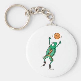 jumping basketball frog key chain