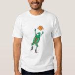 jumping basketball frog tee shirt