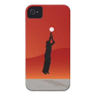 Jumping Basketball Player iPhone 4 Case-Mate Cases
