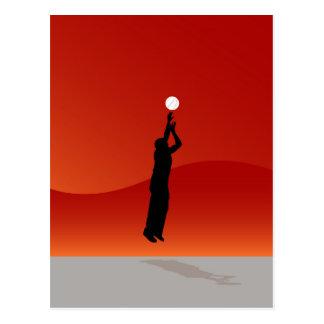 Jumping Basketball Player Postcard