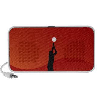 Jumping Basketball Player Laptop Speaker