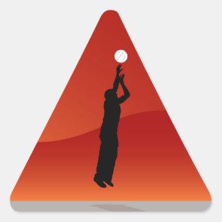 Jumping Basketball Player Triangle Sticker