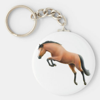Jumping Bay Horse Keychain