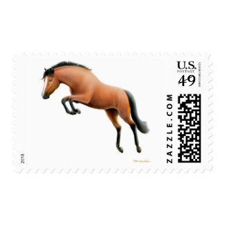 Jumping Bay Horse Postage
