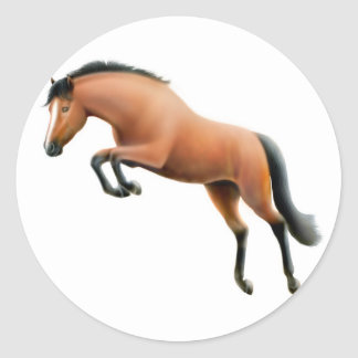 Jumping Bay Horse Sticker