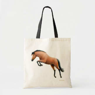 Jumping Bay Horse Tote Bag