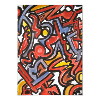 Jumping Beans - Abstract Art Card