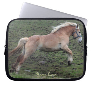 Jumping Belgian Horse-lover's Laptop Sleeve