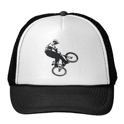 jumping biker trucker hat