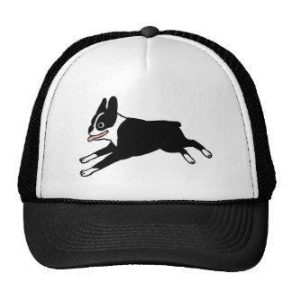 Jumping Boston Terrier Trucker Hat