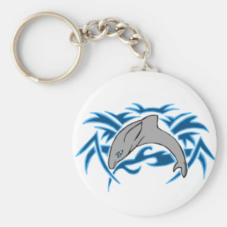 Jumping bottle nose dolphin key chain