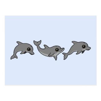 Jumping Bottlenose Dolphin Postcard