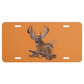 Jumping Buck Deer License Plate