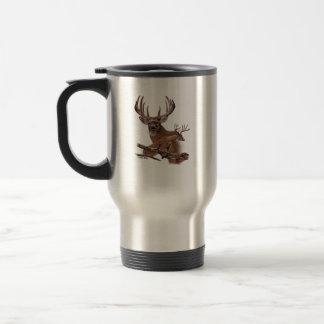 Jumping Buck Deer Travel Mug