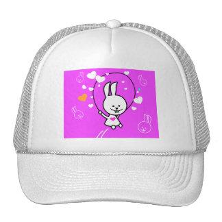 Jumping Bunny Rabbit - Pink Hats