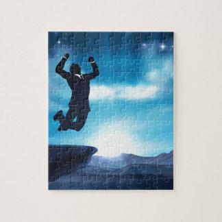 Jumping Businessman Success Concept Jigsaw Puzzle