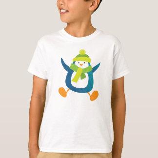 Jumping Cartoon Penguin T-Shirt