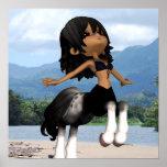 Jumping Centaur Poster